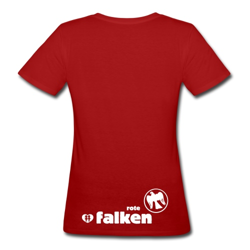 RF Logo Schriftzug schwarz - Frauen Bio-T-Shirt