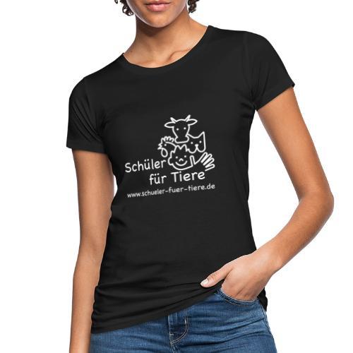 Logo Weiß (2x) - Frauen Bio-T-Shirt