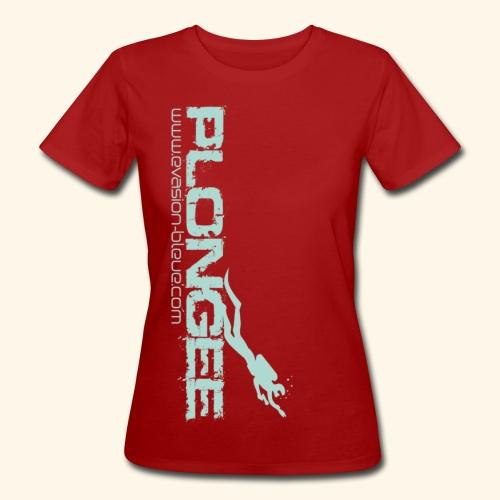 Plongée Evasion Bleue - T-shirt bio Femme