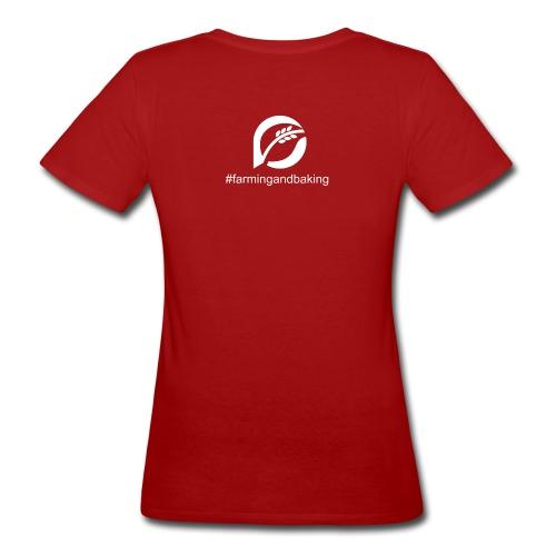 farningandbaking onlywhite - Frauen Bio-T-Shirt