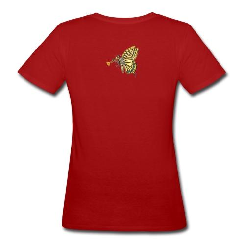 Schmetterling mit weißem Logo - KlingBim - Frauen Bio-T-Shirt
