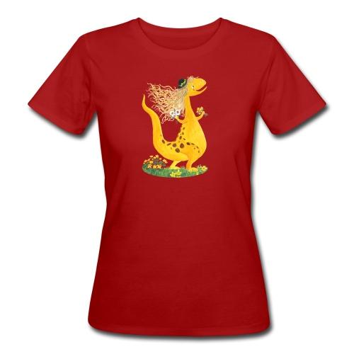 Sumpfdotterdino mit schwarzem Logo - KlingBim - Frauen Bio-T-Shirt