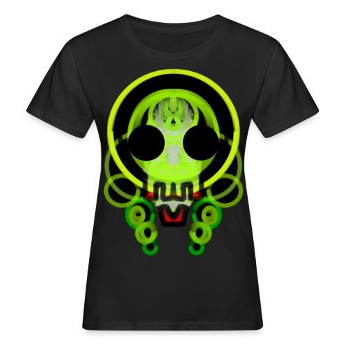 dead skull of loops of green light - Women's Organic T-Shirt