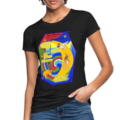 Drei Hasen (Christian Morgenstern) - Frauen Bio-T-Shirt