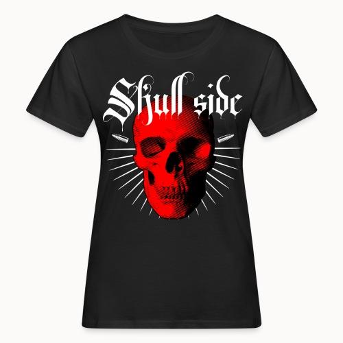Skull side red - Frauen Bio-T-Shirt