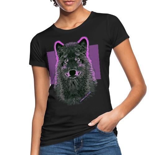 WOLF PINK IN LOVE - Frauen Bio-T-Shirt