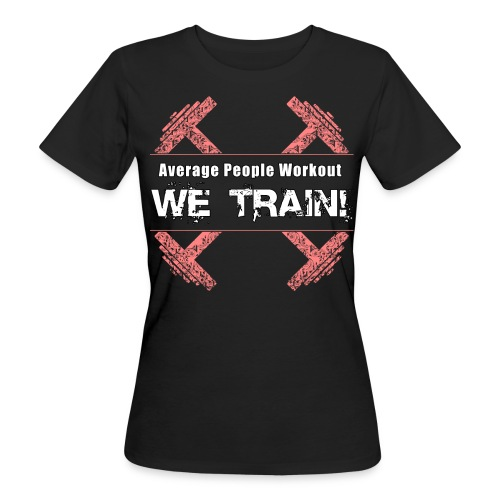 we train white - Women's Organic T-Shirt