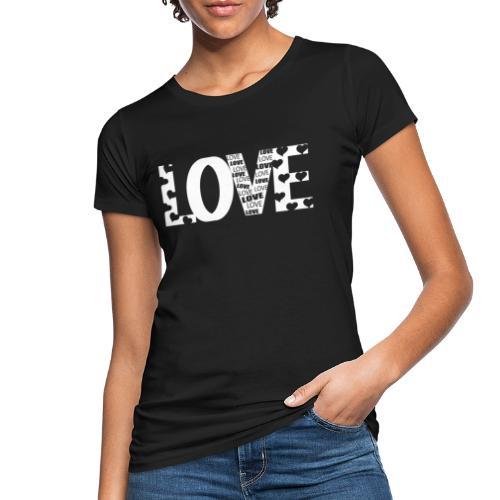 Love mit Herzchen - Frauen Bio-T-Shirt