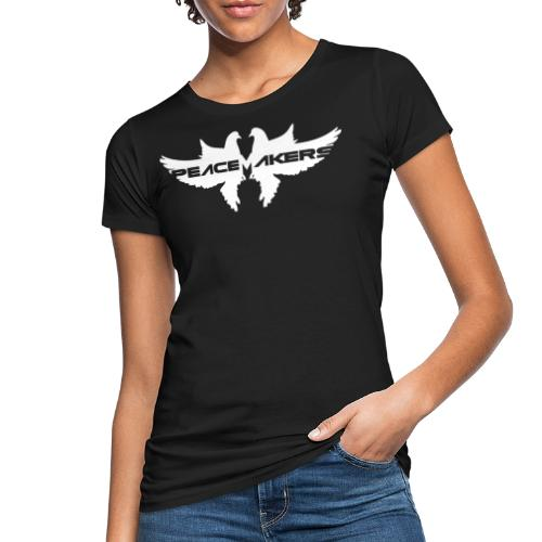 PEACEMAKERS LOGO White By MATTIA TRAVAGLINI - Women's Organic T-Shirt