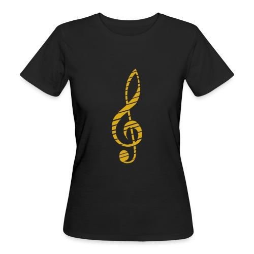 Goldenes Musik Schlüssel Symbol Chopped Up - Women's Organic T-Shirt