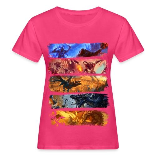 Great Pixel Battle - Dungeons Dragons ja D & D - Naisten luonnonmukainen t-paita