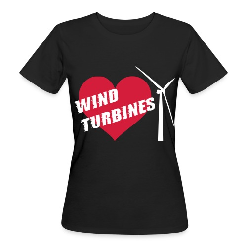 wind turbine grey - Women's Organic T-Shirt