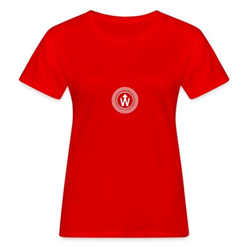 wit logo transparante achtergrond - Vrouwen Bio-T-shirt