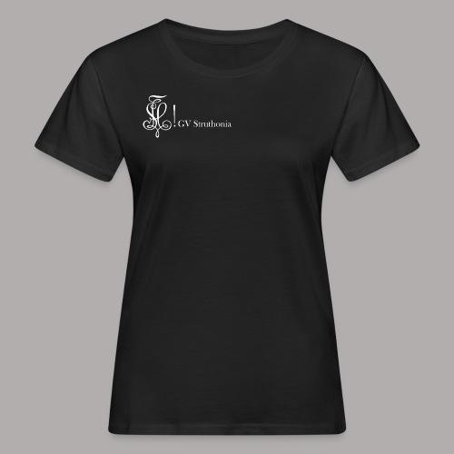 Zirkel mit Name, weiss (vorne) - Frauen Bio-T-Shirt
