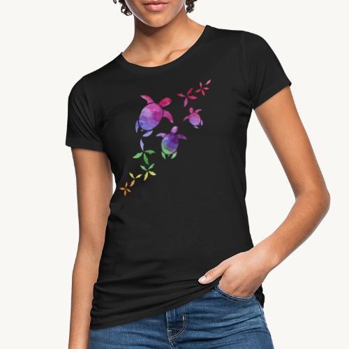 Schildkröten im Regenbogen - Frauen Bio-T-Shirt
