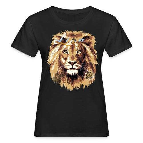 lion big scale 4x Gemälde3 - Frauen Bio-T-Shirt