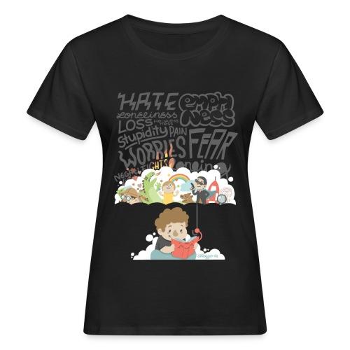 Bücher sind Freunde - Frauen Bio-T-Shirt