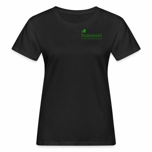 Pudelwohllogo grün - Frauen Bio-T-Shirt