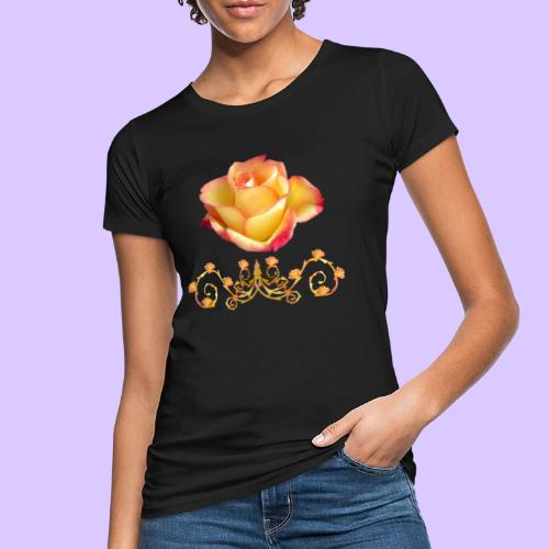 orange Rose, Ornament, Rosen, Blumen, Blüten, edel - Frauen Bio-T-Shirt