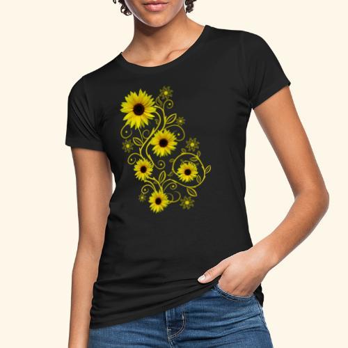 gelbe Sonnenblumen, Ornamente, Sonnenblume, Blumen - Frauen Bio-T-Shirt
