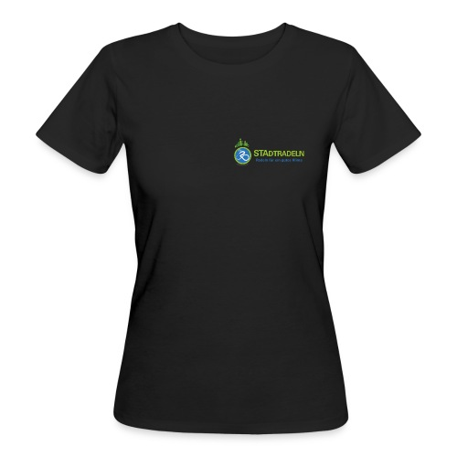STAdtradeln Logo lang Pixel - Frauen Bio-T-Shirt