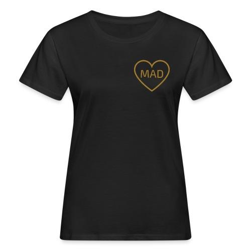 Logo MAD Corazon Oro - Camiseta ecológica mujer
