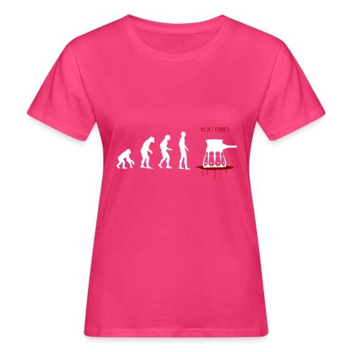 Evoluti...Ops - T-shirt ecologica da donna