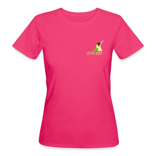 logo pic vert 01 png - T-shirt bio Femme