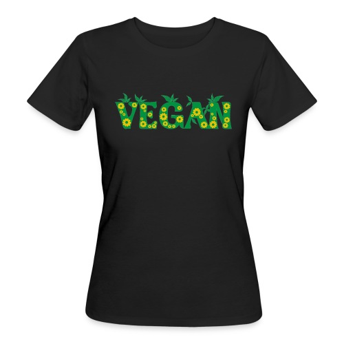 Vegan - Blumen - Frauen Bio-T-Shirt