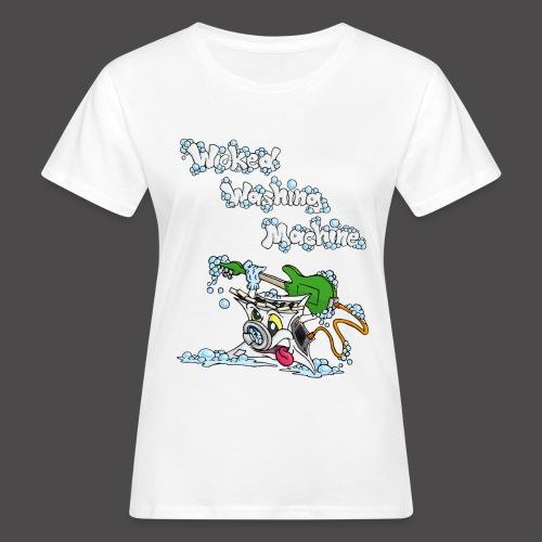 Wicked Washing Machine Cartoon and Logo - Vrouwen Bio-T-shirt