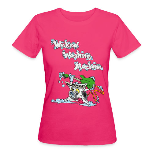 Wicked Washing Machine Cartoon and Logo - Vrouwen Bio-T-shirt