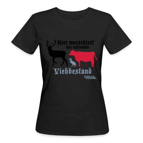 viehbestandnational2 - Frauen Bio-T-Shirt
