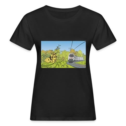 Raupe und Zug - Frauen Bio-T-Shirt