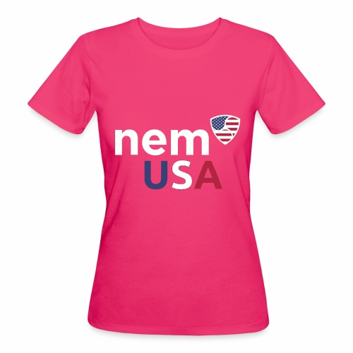 NEM USA white - T-shirt ecologica da donna