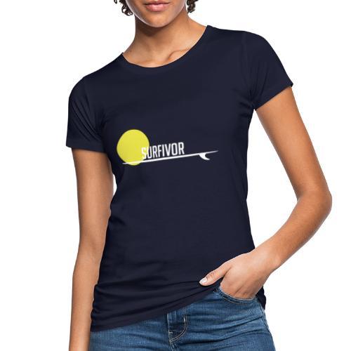 Surfivor surf logo met zon - Vrouwen Bio-T-shirt