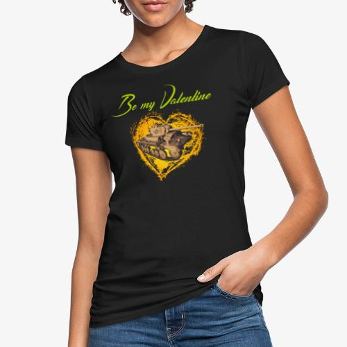 Glowing Valentine Heart - Frauen Bio-T-Shirt