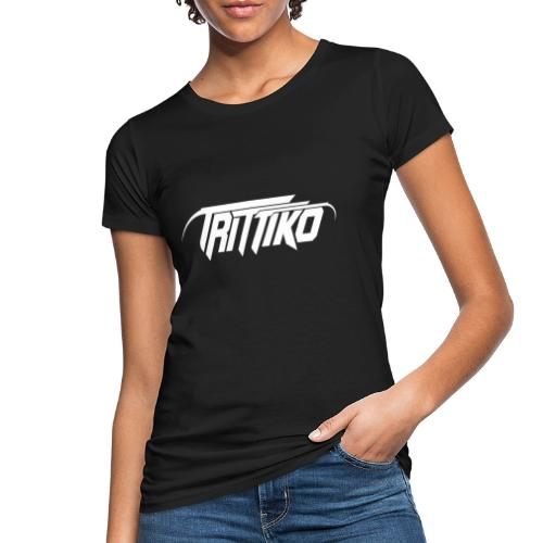 Trittiko Logo Weiss - Frauen Bio-T-Shirt