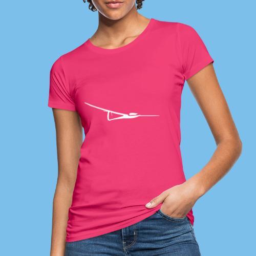 Segelflugzeug weiss Motiv Tshirt Segelflieger - Frauen Bio-T-Shirt