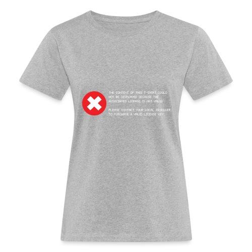 T-shirt Error - T-shirt ecologica da donna