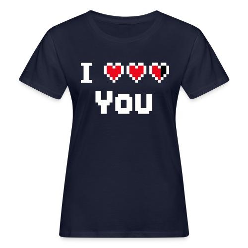 I pixelhearts you - Vrouwen Bio-T-shirt
