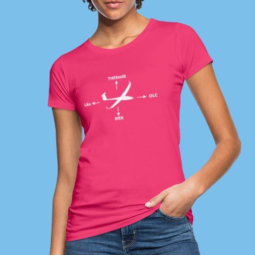Kraftpfeile Segelflugzeug lustig OLC LBA Geschenk - Frauen Bio-T-Shirt