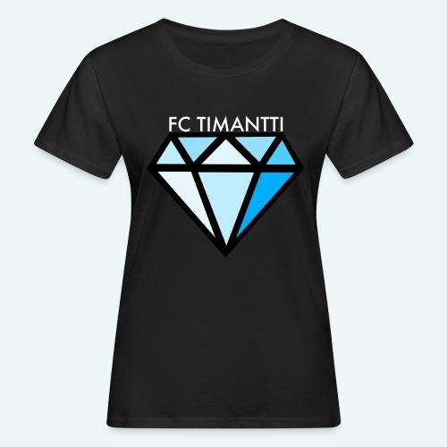 FCTimantti logo valkteksti futura - Naisten luonnonmukainen t-paita