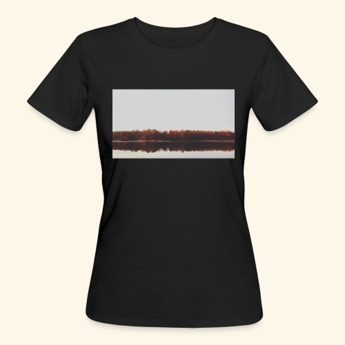 Jesienne jezioro - Ekologiczna koszulka damska