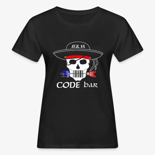 Code Bar white - T-shirt bio Femme