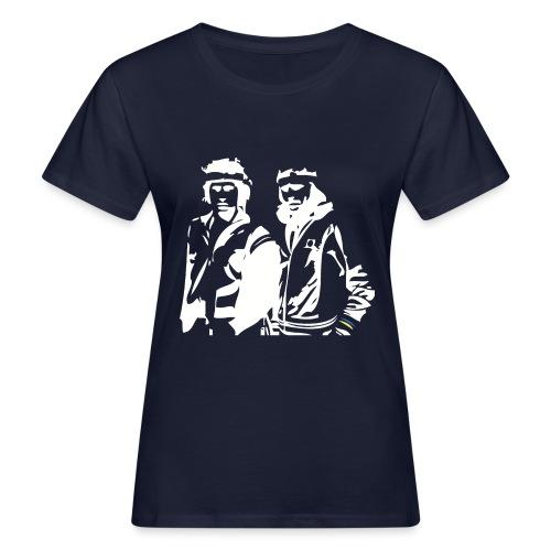 Borg McEnroe Retro Green+White - Naisten luonnonmukainen t-paita
