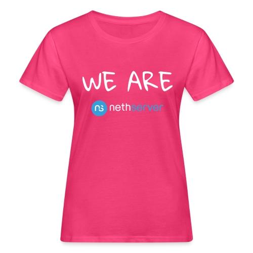 white-blue-rectangular - Women's Organic T-Shirt