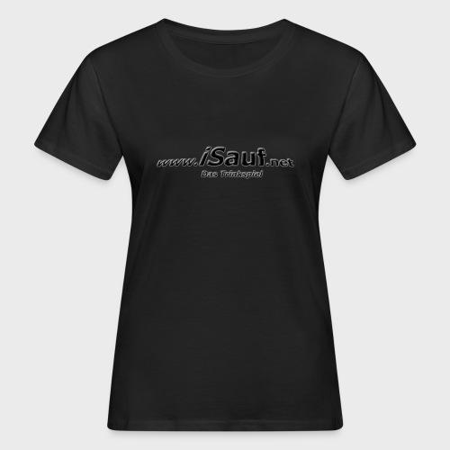 iSauf-Schriftzug - Frauen Bio-T-Shirt