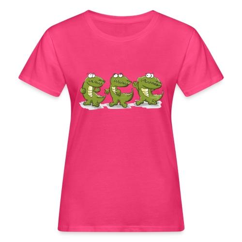 Nice krokodile - Frauen Bio-T-Shirt