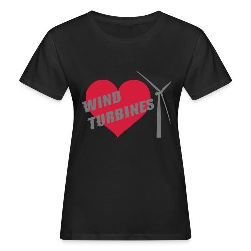 wind turbine grey - Women's Organic T-Shirt
