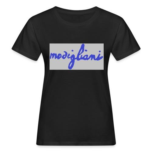 firm_blue - T-shirt ecologica da donna